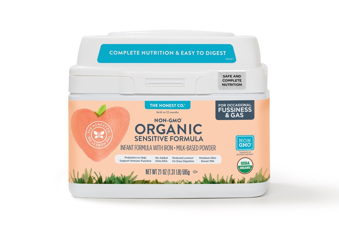 organic baby formula sensitive